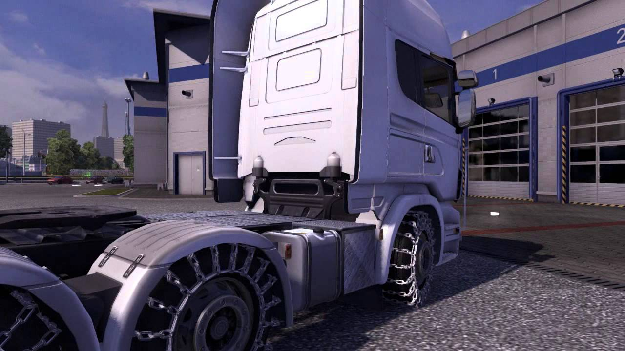 schneeketten snow chains ets 2 mod youtube. Black Bedroom Furniture Sets. Home Design Ideas