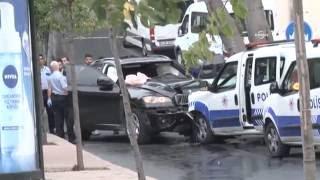 Hırsızlık zanlılarının ateş açtığı polis aracı kaza yaptı: 1 polis yaralı