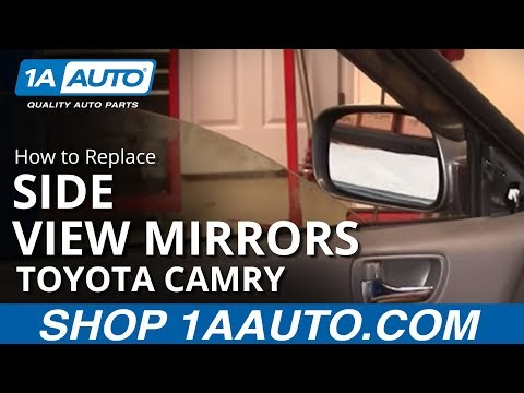 How To Install Replace Broken Side Rear View Mirror Toyota Camry 02-06 1AAuto.com