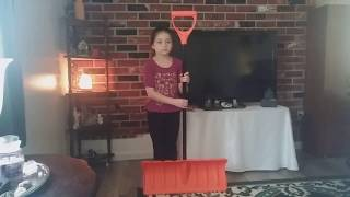 Orbit 24 inch Pusher  Snow shovel  ( Product Review )