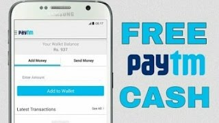 how to get free paytm cash hindi