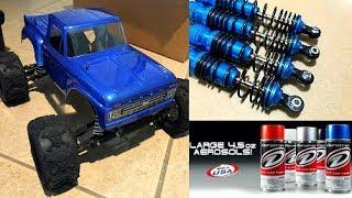 MY RC CAR GETS A CUSTOM METALLIC PAINT JOB?! ???? TRAXXAS STAMPEDE 2WD MONSTER TRUCK!