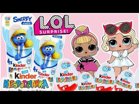 Kinder Niespodzianka & LOL Surprise • Smerfy W Mieście! • Bajki Dla Dzieci