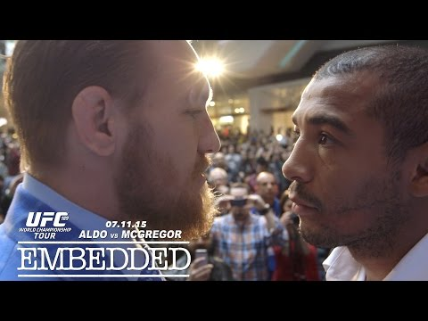 """Watch Jose Aldo rage after Conor McGregor squeezes his neck: """"I'm going to punch this son of b**ch in the face"""""""