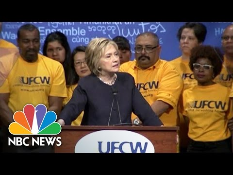 Clinton Tells Crowd To 'Reject' Donald Trump's Vision Of Immigration Reform | NBC News