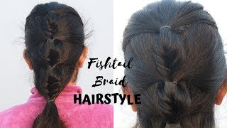 Hairstyle For School/College/Office | Fishtail Braid Hairstyle