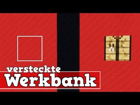 Wie versteckt man eine Werkbank in Minecraft | Minecraft Werkbank verstecken deutsch
