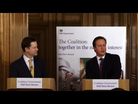 Coalition Government Mid-Term Review Press Conference
