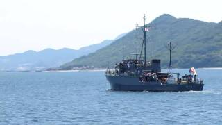 MSC 674  つきしま (掃海艇 Mine Sweeper Coastal)  2010  Video 01