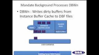 Oracle dba online training - architecture (4) - (DBWn, LGWR - background processes)