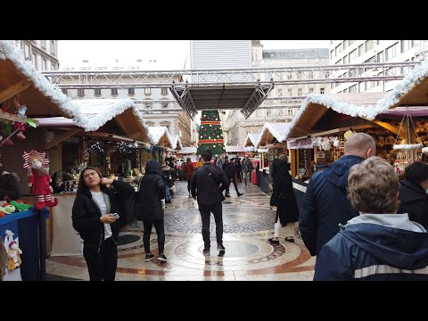 "4K Walk - Budapest, Hungary ""Christmas Market at St. Stephen's Basilica"""