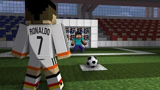 Monster School: Penalty Shoots (ft. Cristiano Ronaldo) - Minecraft Animation