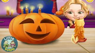 FUN BABY GIRL CARE KIDS GAMES   PLAY HALLOWEEN DRESS UP & MAKEOVER   LEARN COLORS GAMES FOR KIDS