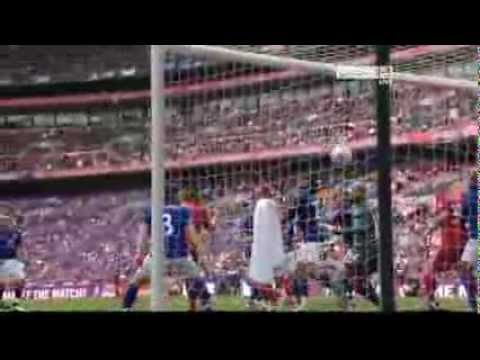 Andy Carroll Winning goal  - Liverpool 2-1 Everton - FA Cup Semi-Final 2012