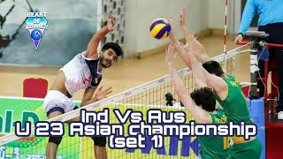 U23 Asian Volleyball Tournament |  India Vs Australia | Watch Hd | Set One
