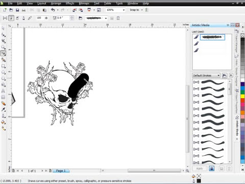 Secrets of CorelDRAW Brush Designs Pt. 1 - How to use Corel Draw