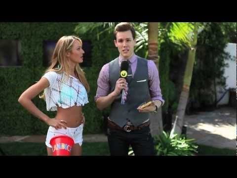 JustJared Victoria's Secret Party Exclusive Video Candice Swanepoel, Alessandra Ambrosio Interview