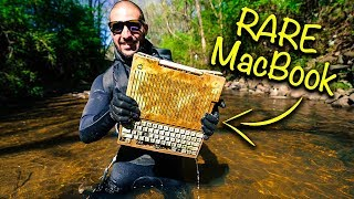 Found RARE MacBook From 1984 In Urban River!!! (Apple Computer)