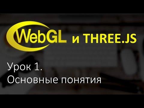 Webgl Three.js Урок 1. Основы