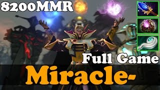 Dota 2 - Miracle- 8200 MMR Plays Invoker - FULL GAME - Ranked Match Gameplay
