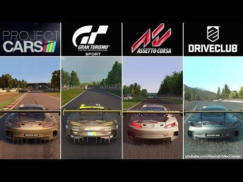 Gran Turismo Sport Beta vs. Project CARS vs. DriveClub vs. Assetto Corsa | Graphics Comparison PS4
