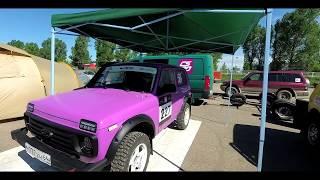 Classic LADA NIVA Rally CAR in the race