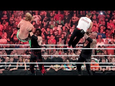 Undertaker And Kane Fight Off Their Attackers: Raw, July 23, 2012 video