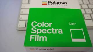 Polaroid  - Spectra Color Instant Film - Test in 2017