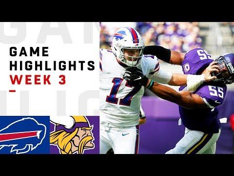 Bills vs. Vikings Week 3 Highlights | NFL 2018