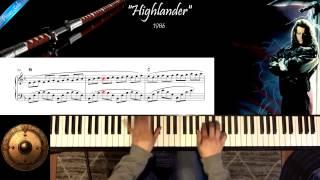 Highlander - Michael Kamen - Piano Solo Cover