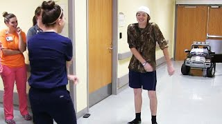 Teen Celebrates Leaving Hospital With