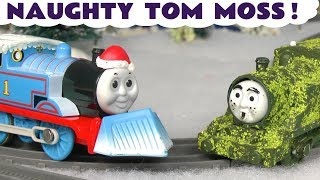 Thomas and Friends naughty Tom Moss Christmas Holiday prank on trains and funny Funlings TT4U