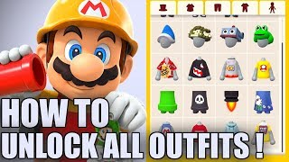 HOW TO UNLOCK ALL Mii Maker Outfits in Super Mario Maker 2