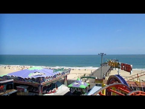 Looping Star front seat on-ride HD POV Jolly Roger at the Pier