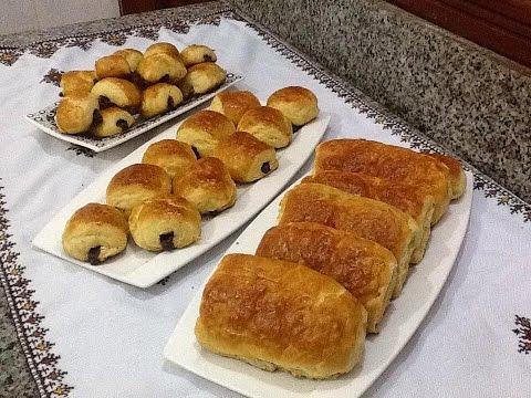 طريقة رائعة وسهلة لتحضير كرواصة بالشوكولا في البيت بشرح مفصل petit pain au chocolat