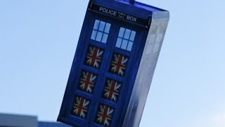 RC Flying Tardis on Doctor Who's 50th Anniversary by Otto Dieffenbach