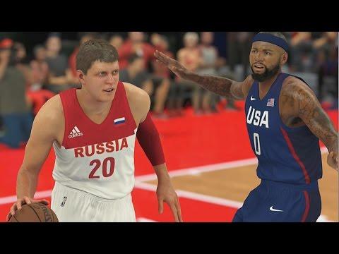 РОССИЯ - США! NBA 2K17