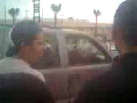 balazera en reynosa (camioneta baleada) (17/02/09)