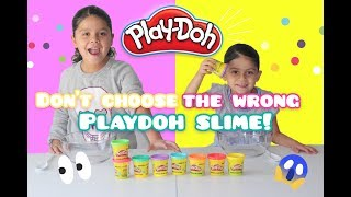 DON'T Choose the Wrong PLAY DOH Slime! Challenge!