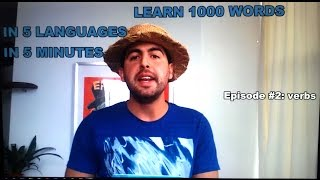 Learn 1000 words in 5 languages in 5 minutes -  episode #2