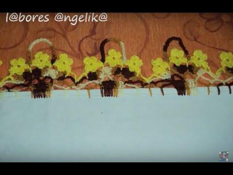PUNTILLA A GANCHILLO ((CANASTITA CON FLORES)) TUTORIAL PARTE 2 DE 2