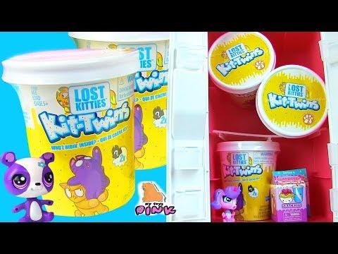 TWIN KITTENS IN ICE CREAM! КОТЯТА В МОРОЖЕНОМ! Маленький Зоомагазин! Surprises with Play Doh