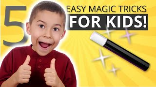 Learn Five Easy Magic Tricks for Kids - Vanish, Money, Levitation and More