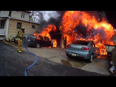 Helmet Cam (Bendele) - Working Garage Fire - 01/19/15