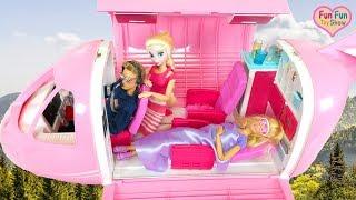 Barbie doll Pink Airplane boneka Barbie Pesawat merah muda Mainan boneca Barbie Avião cor de rosa
