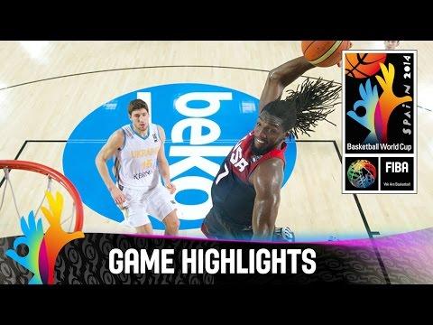 Ukraine v USA - Game Highlights - Group C - 2014 FIBA Basketball World Cup