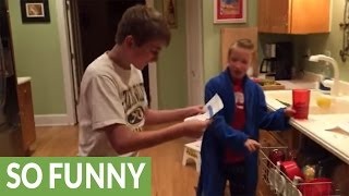 Brothers go nuts over surprise NFL playoff tickets