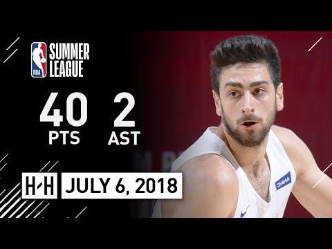 Furkan Korkmaz Full Highlights vs Celtics (2018.07.06) Summer League - 40 Pts, 6 Reb, 2 Ast