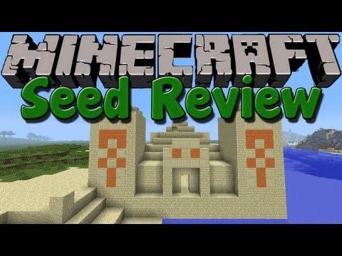 SEED REVIEW - Minecraft 1.6.2 - Versunkene PYRAMIDE und HEXENHAUS