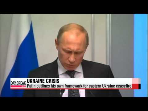 Russia′s Putin outlines his own framework for Ukraine ceasefire   우크라이나 휴전 평화 촉진